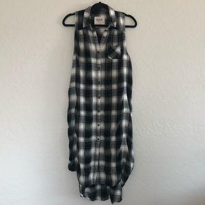 Mossimo Black and White Plaid Dress